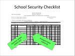 school security checklist