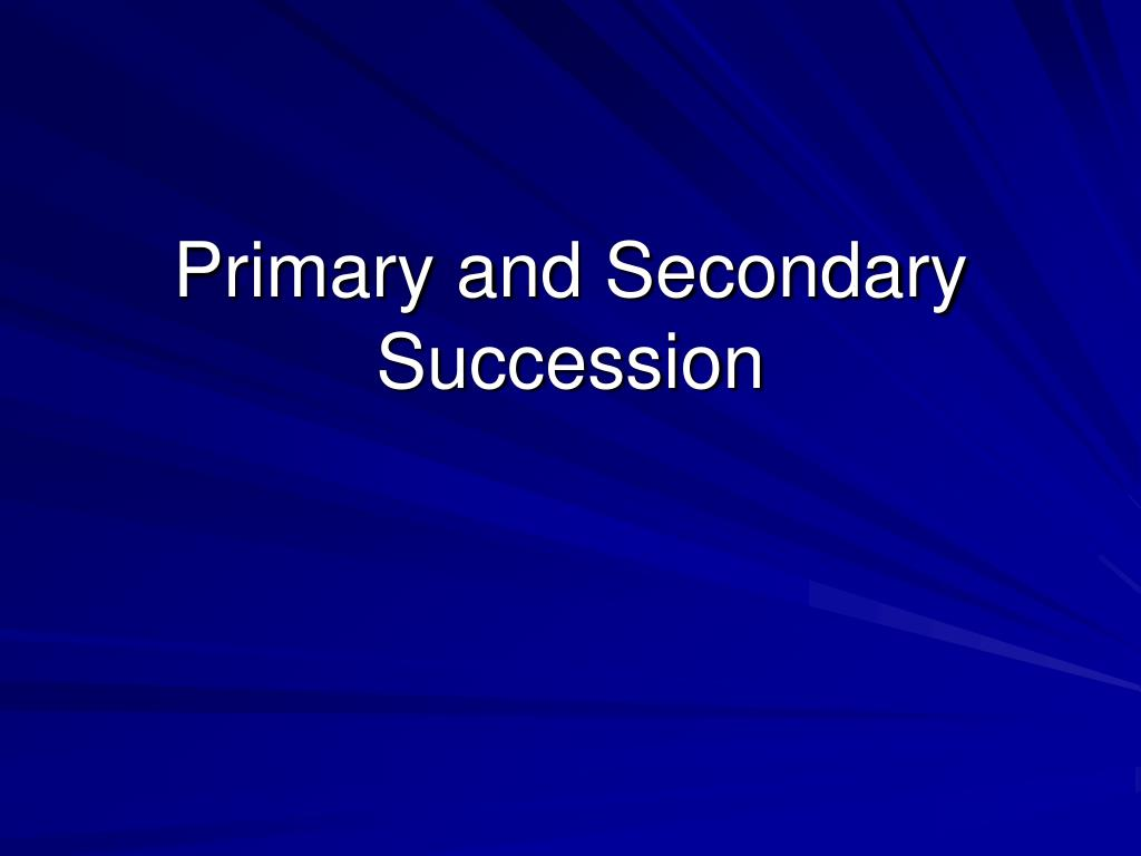primary and secondary succession l.