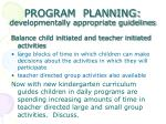 program planning developmentally appropriate guidelines18