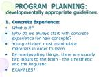 program planning developmentally appropriate guidelines21