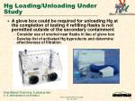 hg loading unloading under study