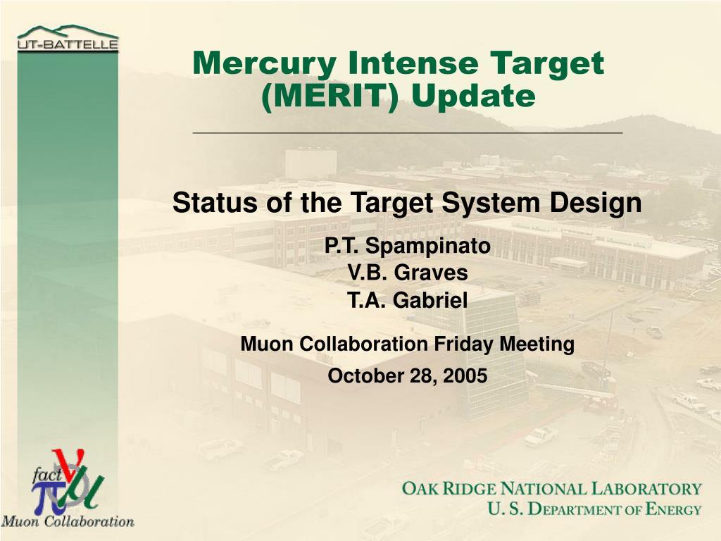 mercury intense target merit update l.
