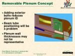 removable plenum concept