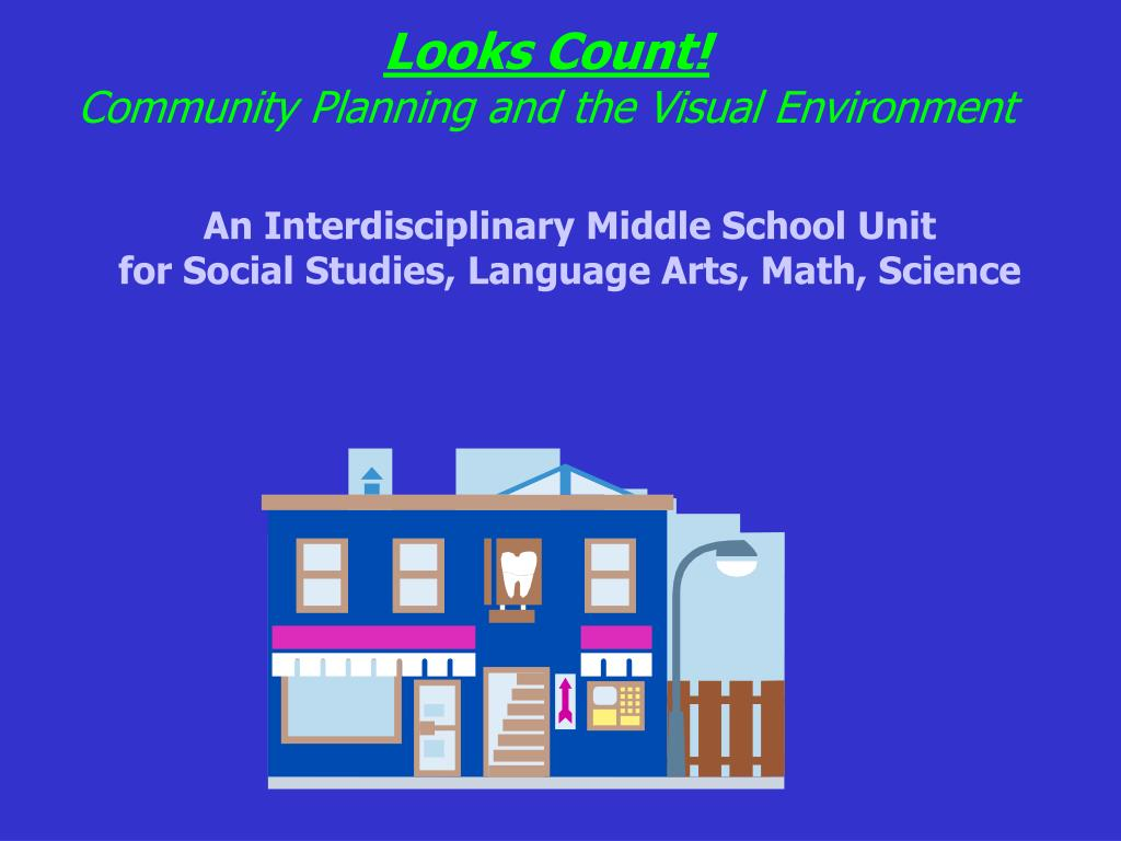 looks count community planning and the visual environment l.