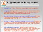 6 opportunities for the way forward