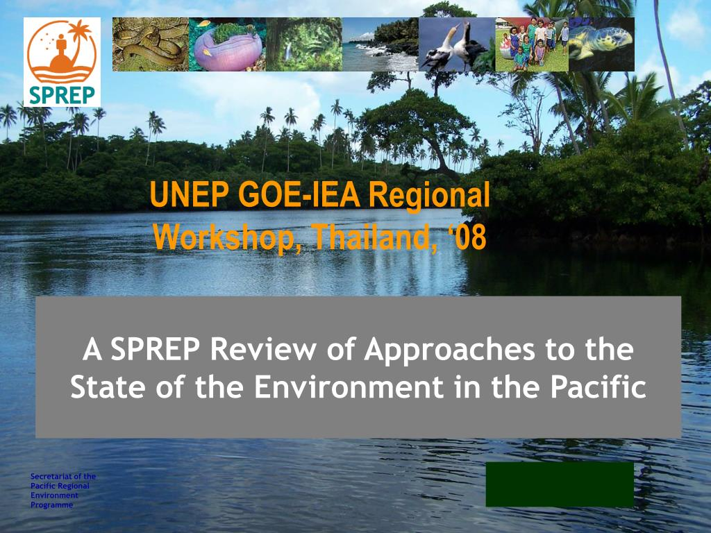 a sprep review of approaches to the state of the environment in the pacific l.