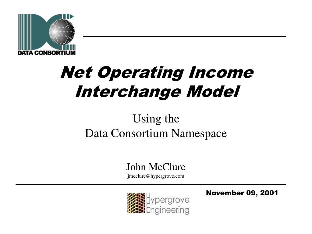 net operating income interchange model l.