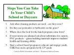 steps you can take in your child s school or daycare