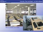 from the pen and paper to online exams