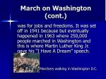 march on washington cont