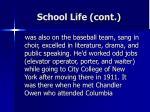 school life cont