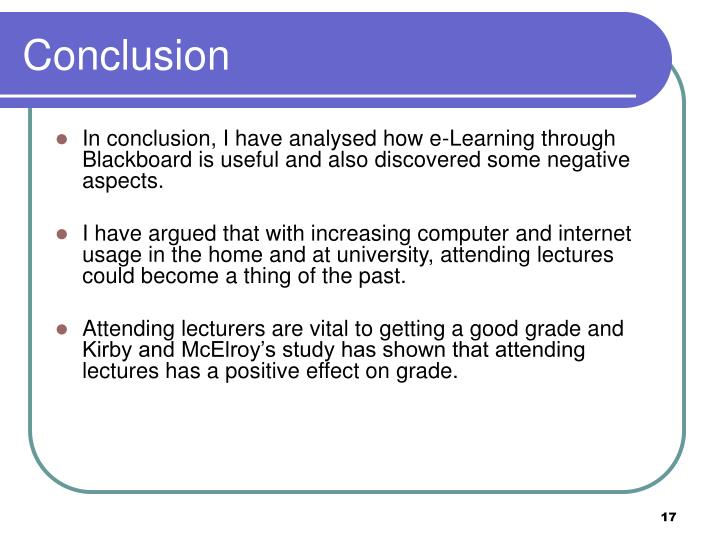 effectiveness of e learning Instead the students' perceptions of the effectiveness of e-learning was.