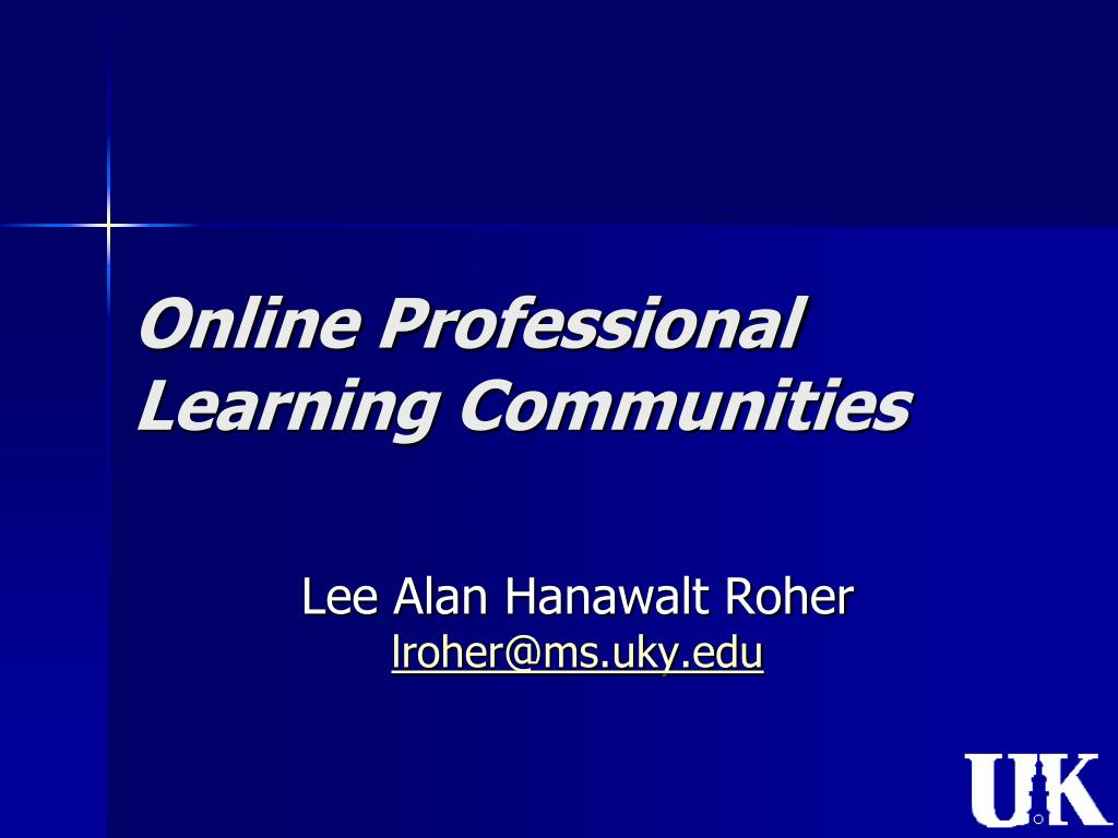 online professional learning communities l.