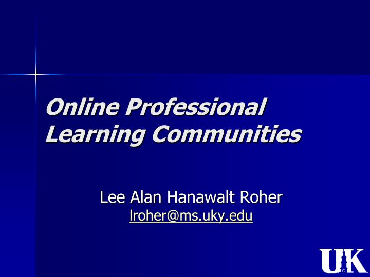 online professional learning communities n.