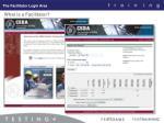 the facilitator login area