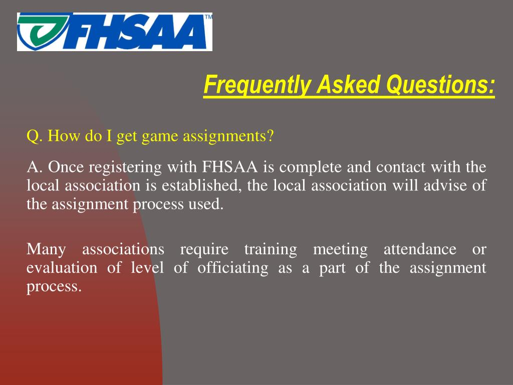 Frequently Asked Questions: