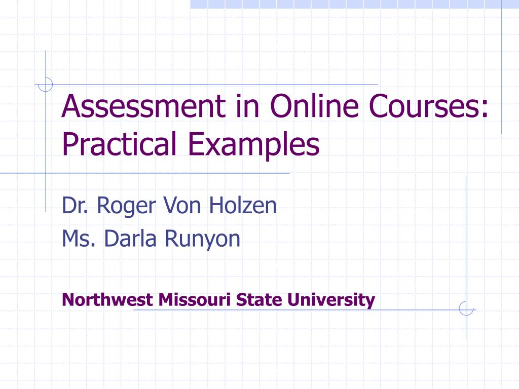 assessment in online courses practical examples l.