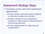 assessment strategy steps15