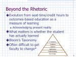 beyond the rhetoric7