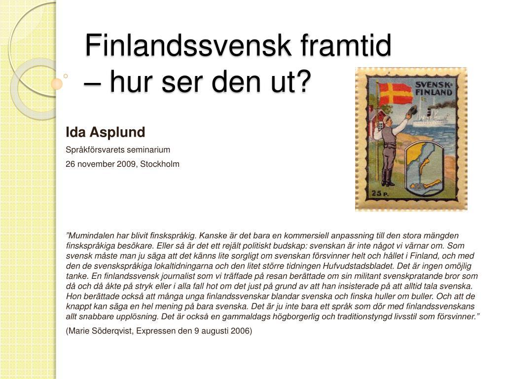 Finlandssvensk framtid