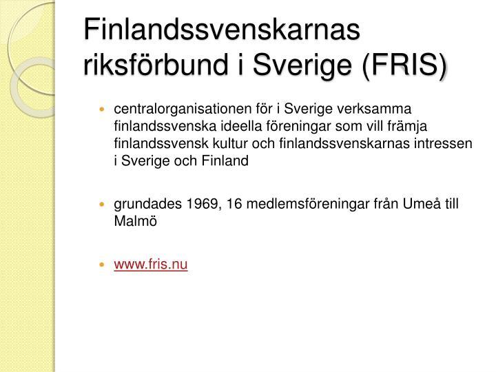 Finlandssvenskarnas riksf rbund i sverige fris