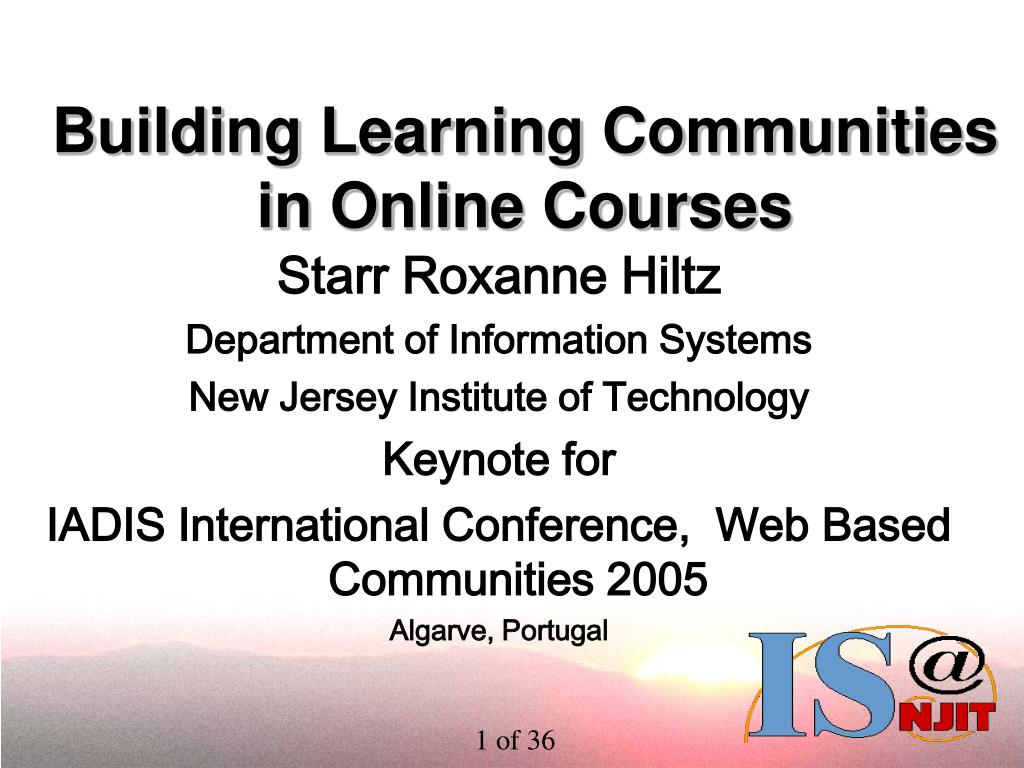 building learning communities in online courses l.