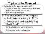topics to be covered10
