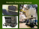 aviation simulator analogy