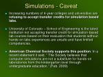 simulations caveat