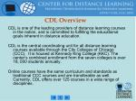 cdl overview