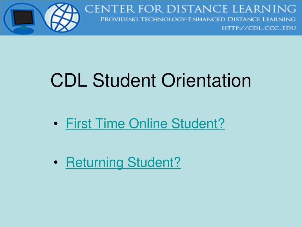cdl student orientation l.