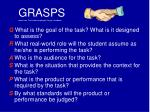 grasps taken from the understanding by design handbook