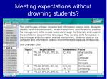 meeting expectations without drowning students