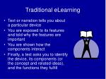 traditional elearning