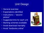 unit design