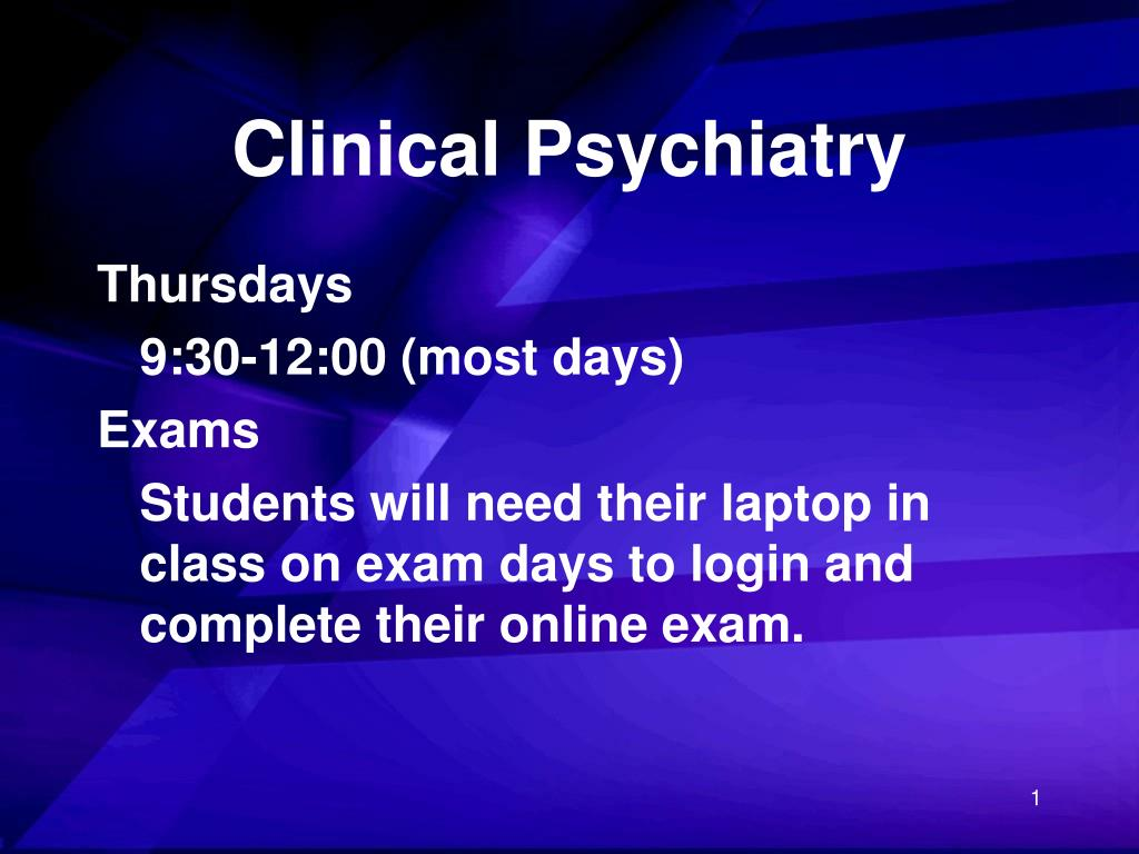 clinical psychiatry l.