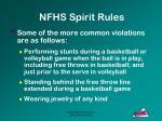 nfhs spirit rules40