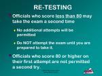 re testing