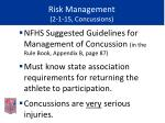 risk management 2 1 15 concussions47