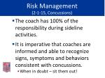risk management 2 1 15 concussions48