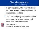 risk management 2 1 15 concussions49