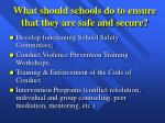 what should schools do to ensure that they are safe and secure20