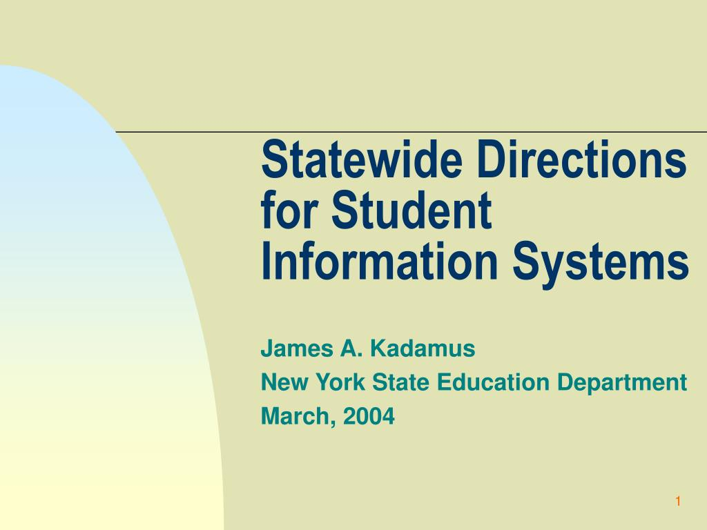 statewide directions for student information systems l.