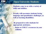 open university students