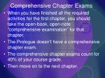 comprehensive chapter exams