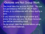 quizzes are not group work