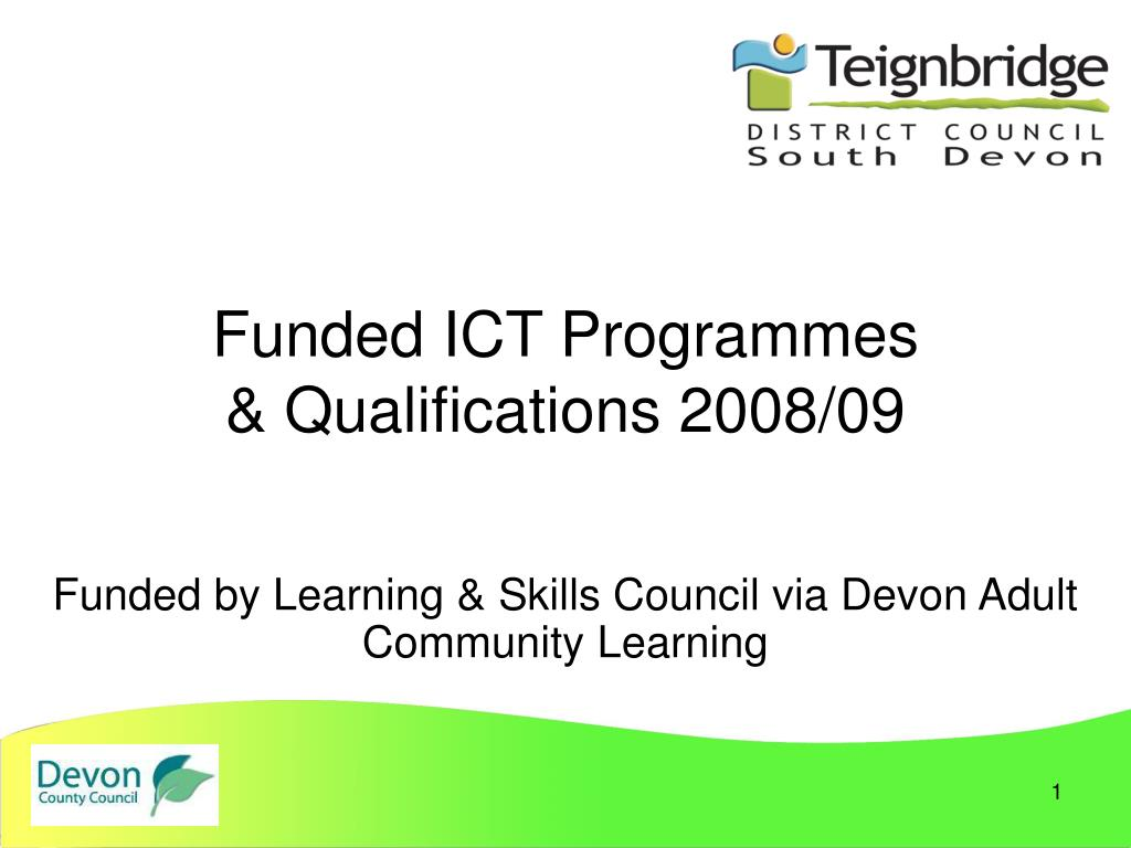 funded ict programmes qualifications 2008 09 l.