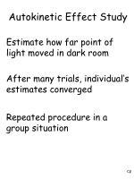 autokinetic effect study