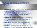 strategic concepts in firefighting mcaniff