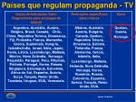 pa ses que regulam propaganda tv